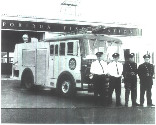 No. 2 Appliance commissioned in September 1966. From left to right:C.F.O. G.W. Bicknell, Stat./Off. E.A. Pragnell, Frm. B.D. Fisher, Frm. R.F. Murch