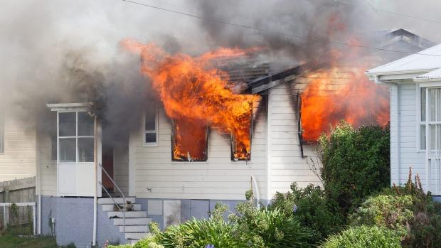 Titahi Bay and Porirua fire crews attend a house fire on Te Pene Avenue, Titahi Bay. - MATT DUNCAN/FAIRFAX NZ