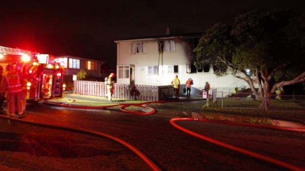 Emergency services were at the scene of the blaze on Kokiri St late on Sunday night. - ROSS GIBLIN