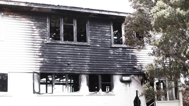 The Kokiri Cres house the morning after the fire. - Rob Kitchin/Fairfax NZ
