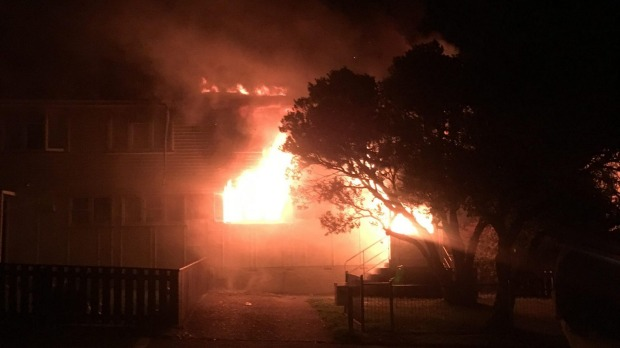 A fire gutted a Porirua home over night. - Supplied